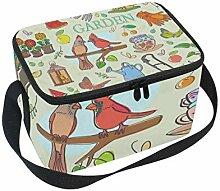 FAJRO Garten-Set mit Muster, Lunchboxen für
