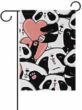 FAJRO Gartenflagge mit Panda-Motiv, doppelseitig,