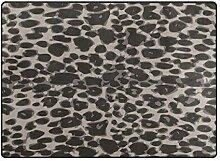 FAJRO graue Leopardenmuster Teppich für