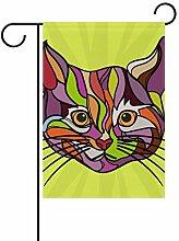 FAJRO Katzenkunst Malerei Flagge Hofdekoration