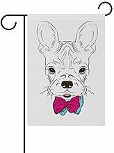 FAJRO Krawatte Hund Hofflaggen Garten Flagge für