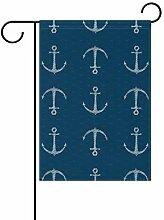 FAJRO Kreative Anker Muster Flagge Hofdekoration