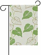 FAJRO Lotusblätter Muster Flagge Hofdeko Garten