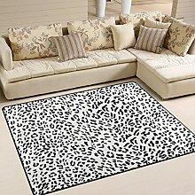 FAJRO Lovely Leopard Print Teppich für