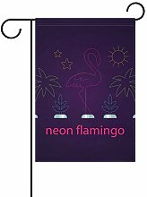 FAJRO Neon Flamingo Hofflaggen Garten Flagge für