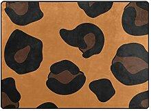 FAJRO Niedlicher Leopardenmuster Teppich für