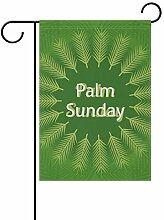 FAJRO Palmsonntagsflagge Garten-Flagge für Garten