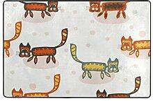 FAJRO Peculiar Katzen-Matten für Schlamm und