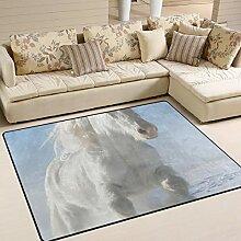 FAJRO Pretty White Pony Teppich für