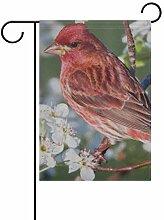 FAJRO Rote Vogel Tapeten Flagge Hofdeko Garten