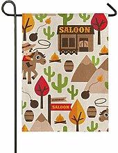 FAJRO Saloon Gunshop Flagge Hofdekoration Garten