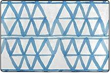 FAJRO schöne Azurblau Dreieckige Matten für