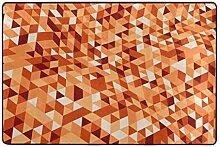 FAJRO schraubbare orangefarbene Mosaik-Fußmatte