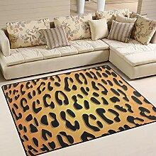 FAJRO Sexy Leopardenmuster Teppich für