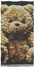 FAJRO Sporthandtuch mit Teddybär-Motiv,