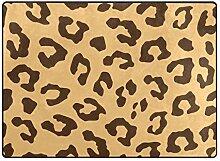 FAJRO Stylische Leopardenmuster Teppich für