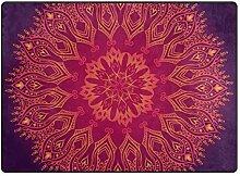 FAJRO Teppich, abstraktes Muster, mit Spitze,
