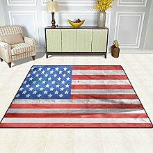 FAJRO Teppich, amerikanische Flagge, für den