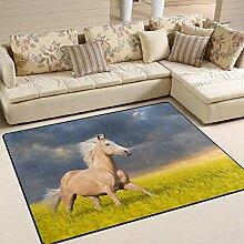 FAJRO Teppich, braun, Pferdevorleger für