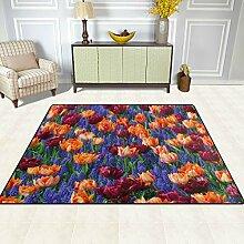 FAJRO Teppich für Eingangsbereich, Lavendel und