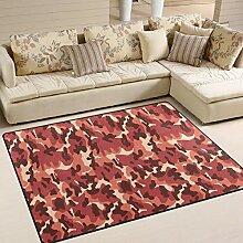 FAJRO Teppich, Leopardenmuster, für den
