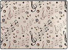 FAJRO Teppich mit Musiknotenmuster, für