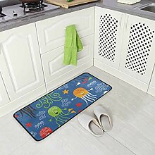 FAJRO Teppich mit süßem Quallen-Muster,