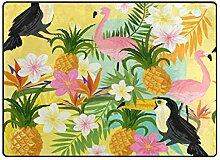 FAJRO Teppich mit Vögeln und Früchten Muster