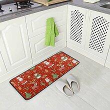 FAJRO Teppich, mit weihnachtlichem Vibe-Muster,