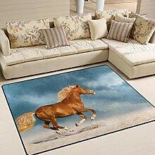 FAJRO Teppich, Motiv Pferd, für Eingangstür,