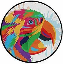 FAJRO Teppich, rund, für Papageien, rutschfest,