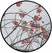 FAJRO Teppich, rund, Orange, Sakura Teppich,