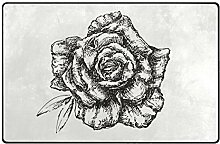 FAJRO Türmatte mit Rosenmotiv, Polyester,