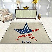 FAJRO Usa Stars Logo Teppiche für Eingangsbereich