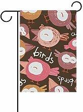 FAJRO Vogelflagge Singende Garten Flagge für