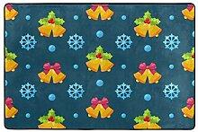FAJRO Weihnachts-Fußmatte, Bunte Dekorationen,