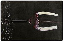 FAJRO Weinglas-Fußmatte, Polyester,