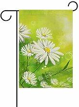 FAJRO weiß Chrysanthemen Malerei Muster Fahne