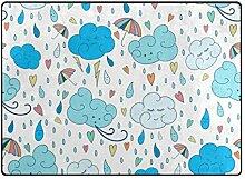 FAJRO Wolken Regenmuster Teppich für