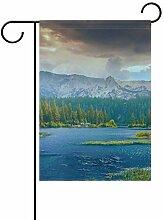 FAJRO Wunderbare Landschaftsflagge Bergsee,