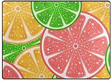 FAJRO Zitrusfrüchte Muster Teppich für