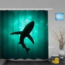 FAKAINU Duschvorhang,Unterwasserbrille Foto
