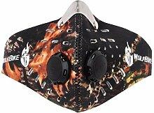 FakeFace Outdoor Ventile Staubmaske mit Filter
