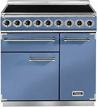 Falcon RANGECOOKER 900 DELUXE chinablau /chrom - Induktion Grill / Multif.ofen / HL Ofen