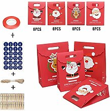 Falliback 24 Stück Süßigkeitenbeutel aus Papier