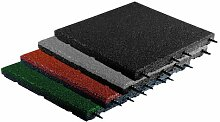 Fallschutzmatte 500x500x40mm (Gummigranulat)
