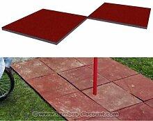 Fallschutzmatte klein, rot-braun, Stärke 4,5cm,