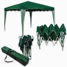 Falt-Pavillon Easy-Up 3x3m grün-weiss