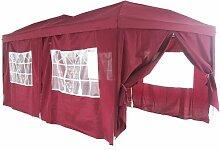 Falt Pavillon Partyzelt 3x6m Farbe: Bordeaux