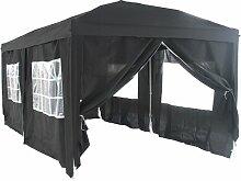Falt Pavillon Partyzelt 3x6m Farbe: Schwarz